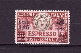 LIBYA  Express Cent 60 Overprinted Lire 1,25  Sassone. Cat. N° 12  MNH** - Libya
