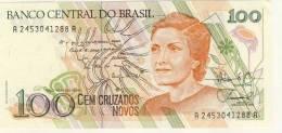 BILLET # BRESIL # 1989 # 100 CRUZADOS NOVOS # CEM CRUZADOS NOVOS # C. MEIRELES # - Brésil