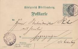 Württemberg GS Nachv. St. Lauffen 20.12.97 Gelaufen Nach Ergenzingen 22.12.97 Nachv. St. - Wuerttemberg