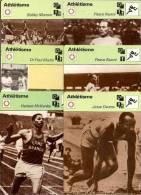 FICHES  DES EDITIONS RENCONTRES A LAUSANNE  - COUREURS ET COUREUSES  - LOT DE 30 FICHES - Athlétisme