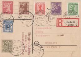 Sow. Zone R-Karte Mif Minr.1-7 Berlin 9.2.46 Gel. Nach Görlitz 17.2.46 - Sowjetische Zone (SBZ)