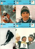 FICHES  DES EDITIONS RENCONTRES A LAUSANNE  - SKIEURS ET SKIEUSES  - LOT DE 16 FICHES - Sports D'hiver