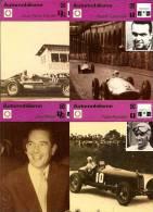 FICHES  DES EDITIONS RENCONTRES A LAUSANNE  - COUREURS  - LOT DE 16 FICHES - Automobile - F1