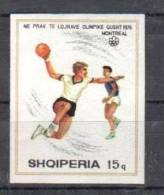 ALBANIA 1976 OLYMPIC GAMES HANDBALL IMPERFORATED - Handbal