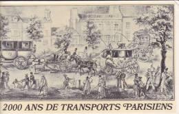 """Livret De 40 Pages Sur """" 2 000 Ans De Transports Parisiens """" - Non Classés"""