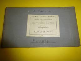 Service De La Voie Des CHEMINS De FER  , Du P L M     (Paris-Lyon-Méditerranée)  Carnet D'attachements Année 1939 - Railway & Tramway