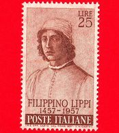 Nuovo - MNH - ITALIA - 1957 - 5º Centenario Della Nascita Di Filippino Lippi - 25 L. • Autoritratto - 1946-.. République