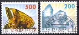 Zu 1065-1066 / Mi 1808-1809 / YT 1732-1733 Minéraux Obl. 1er Jour Demi-lune BERN 1 SCHANZENPOST - Switzerland