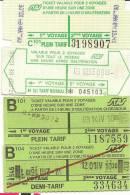 ST ETIENNE  Lot De 4 Tickets De Bus / Tram Usagés - Transportation Tickets