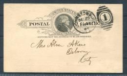 1893 USA Johnstown (Pennsylvania) Water Co Rent Demand Stationery Postcard