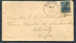 1907 USA Hartford - Switzerland Cover - United States