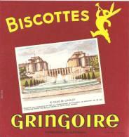 Buvard Biscottes Gringoir E  Le Paiais De Chaillot - Biscottes