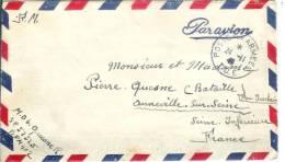 """De Cholon (BPM402) """"poste Aux Armées T.O.E."""" - Marcophilie (Lettres)"""