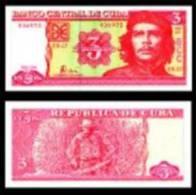 O) 2004 CUBA, BANKNOTE 3 PESOS CUBANOS, BANCO CENTRAL DE CUBA, ERNESTO CHE GUEVARA, SERIAL NUMBER, UNC, - Cuba
