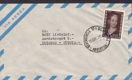 Argentina Airmail Via Aerea DEPENDENCIA No. 1 DISTRITO 1953? Cover Letra To HÖGANÄS Sweden Suecia Eva Peron - Luftpost