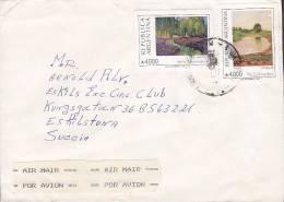 Argentina Airmail Par Avion 1991? Cover Letra To ESKSILTUNA Sweden Suecia (2 Scans) - Luftpost