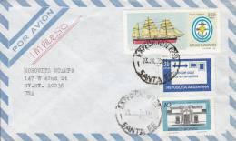 Argentina Airmail Par Avion EXPEDICION SANTA FE 1979 Cover Letra To NEW YORK United States IMPRESO Ship Schiff - Luftpost