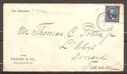XFE-6  PHILADELFIA  MET STEAMER  CAMPANIA  NAAR FRANKRIJK     1902 - Timbres