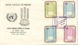 LUCHA MUNDIAL CONTRA EL HAMBRE FDC PARAGUAY 1963 FREEDOM FROM HUNGER RARE MAYO DE 1963 - Tegen De Honger