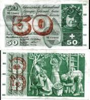 SUISSE / SWITZERLAND / 50 FRANCS /1958/ 9E / WPM47c / RARE / MÜLLER-MOTTA-KUNTZ - Suisse