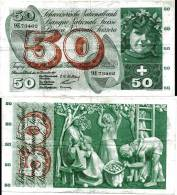SUISSE / SWITZERLAND / 50 FRANCS /1958/ 9E / WPM47c / RARE / MÜLLER-MOTTA-KUNTZ - Suiza