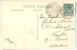 3pk912:pk: 8 Alger -L'Amirate: 5cent: X POSTAGENT X  AMSTERDAM-BATABIA -2.6.25 > Vught Bij 's Bosch - Lettres & Documents