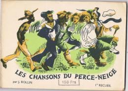 1955 - J. ROLLIN - LES CHANSONS DU PERCE-NEIGE - 1er Recueil -  Editions SALABERT - Choral