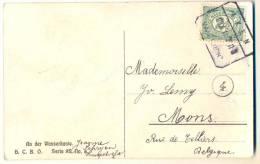 3pk909: Fantasiekaartje:  2½ Cent: ALKEN 8.IX.10  MAASTRICHT > Mons B - 1891-1948 (Wilhelmine)