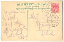 3pk905: Blok:  AMSTERDAM 31 VII 19 BOXTEL 5 Cent: >  Ostende B : Stationsbrug S´ Hertogenbosch - 1891-1948 (Wilhelmine)