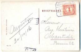 3pk911: Blok: ´s GRAVENHAGE 31 X 16  IX UTRECHT  1 Cent: >  Maastricht: ´s GRAVENHAGE Hofvijver - 1891-1948 (Wilhelmine)