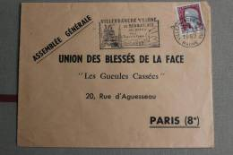 69 Rhone - Flamme 1962 - VILLEFRANCHE SUR SAONE - Le Beaujolais Ses Sites Vins Tissus De Coton - Marcophilie (Lettres)