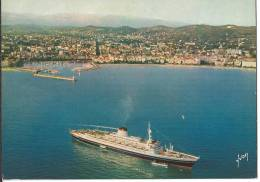 06 CANNES - Le Port, La Croisette, Transatlantique Italien En Escale - Cannes