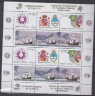 ARGENTINE    1984     N°  1410/1415   En Feuillet De 2 Séries    COTE   12€00     EUROS      ( 24 ) - Argentine
