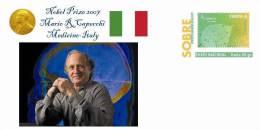 Spain 2013 - Nobel Prize 2007 Medicine - Mario R.Capecchi/Italy Special Prepaid Cover - Prix Nobel