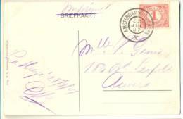 3pk908:pk: Scheveningen Wandelhoofd, KURHAUS:: 1 Cent: AMSTERDAM-ANTWERPEN 28 JUL 07 X > Anvers Als Imprimé - 1891-1948 (Wilhelmine)