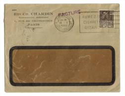 Lettre Ets Ch.Chardin Rue De Chateaudun Paris 1932 - Lettres & Documents