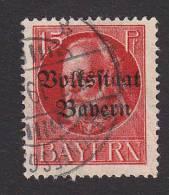 Bavaria, Scott #140, Used, King Ludwig III Overprinted, Issued 1919 - Bavière