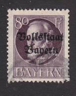 Bavaria, Scott #149, Used, King Ludwig III Overprinted, Issued 1919 - Bavaria