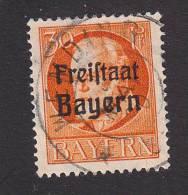 Bavaria, Scott #200, Used, King Ludwig III Overprinted, Issued 1919 - Bavaria