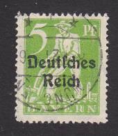 Bavaria, Scott #256, Used, Plowman Overprinted, Issued 1920 - Bavaria