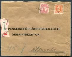 1911 Sweden Stromsbruk Registered Cover To Pensionsforsakringsbolage Ts Distriktskontor Uppsala