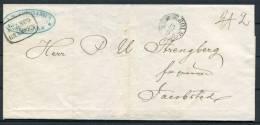 1848 Sweden Stockholm FRANCO GRANSEN To Jacobstad Finland - Prefilatelia