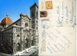 FIRENZE S. MARIA DEL FIORE 1978 AFFRANCATA 20 L SIRACUSANA BDF TASSATA 100 L BDF - Firenze (Florence)