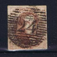 Belgium OBP 8 Used 1851, Cancel 24 Brussel - 1851-1857 Médaillons (6/8)