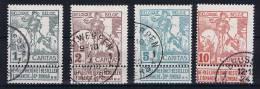 Belgium OBP 84-87, Used Obl. 1910 - 1910-1911 Caritas