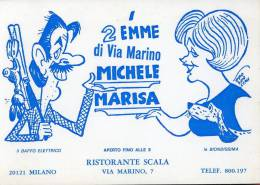 MILANO RISTORANTE SCALA ILLUSTRATORE PROSDOCIMI 1980 - Ristoranti