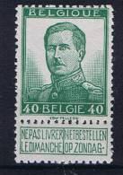 Belgium OBP 114 , MH/* - 1912 Pellens