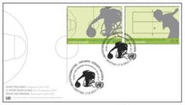 ONU Vienne 2012 - Paralympic Games FDC Combo 2 Timbres - FDC