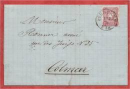 68 - Cachet GEBWEILER ( Guebwiller ) Sur 10 Pfennige - 1876 - 3 Scans - Alsace-Lorraine