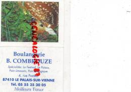 87 - LE PALAIS SUR VIENNE - CALENDRIER PUB- BOULANGERIE B. COMBROUZE 2001 - Calendriers